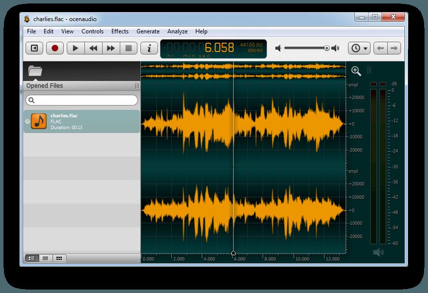 OcenAudio, phần mềm thu âm, phần mềm chỉnh nhạc