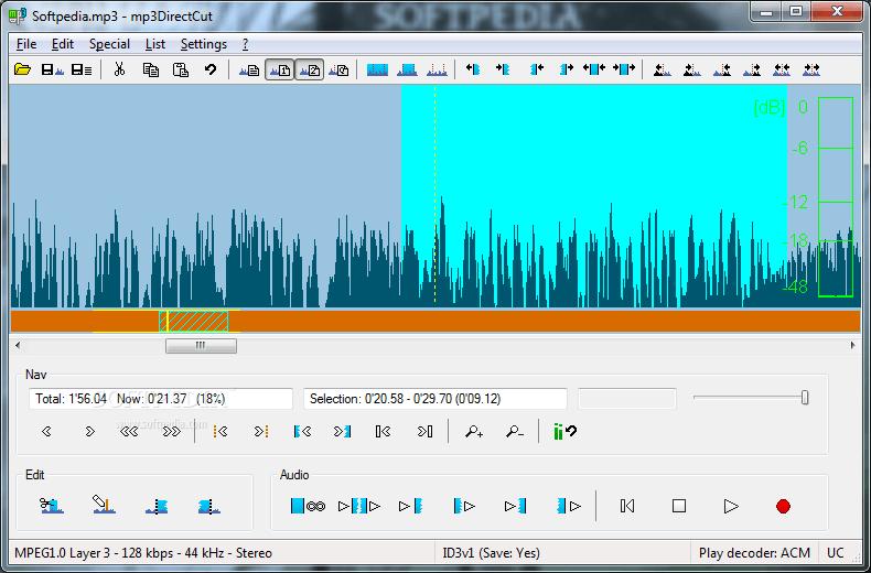 mp3DirectCut, phầm mềm thu âm, phần mềm chỉnh nhạc
