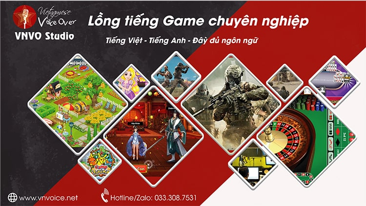 lồng tiếng game, video games voice over