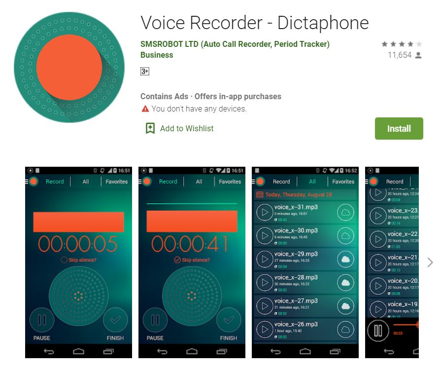 Dictaphone (Voice Recorder)